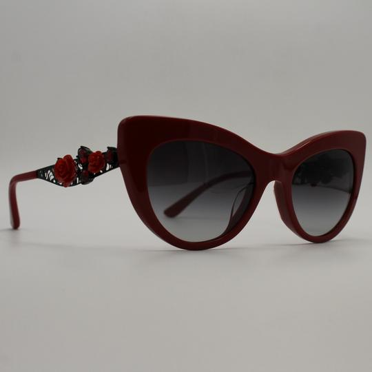 Dolce&Gabbana Cateye Red/Black With Diamond Accent/Flowers Sunglasses 4302BF 3088/8G