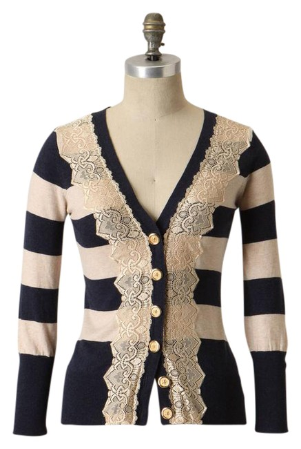 Preload https://item4.tradesy.com/images/navybeige-field-game-cardigan-size-2-xs-22001658-0-1.jpg?width=400&height=650