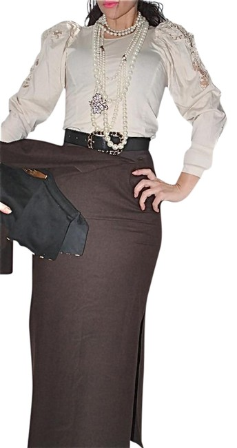 Preload https://item2.tradesy.com/images/chanel-brown-wool-maxi-skirt-size-6-s-28-22001731-0-1.jpg?width=400&height=650