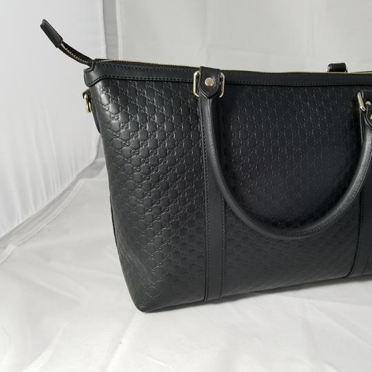 Gucci Leather Pink New Strap Satchel in black