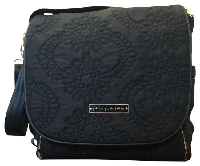 Item - Backpack Boxy Central Park North Stop Special Edition Black with Gold Hardware Polyester Diaper Bag
