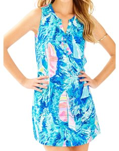 Lilly Pulitzer short dress blue hey bay bay print on Tradesy