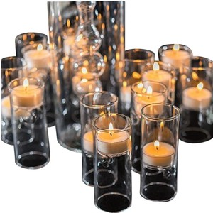 Clear Blown Glass Miniature Tealight Luminaries (12 Sets Of 4) Votive/Candle