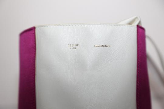 Céline Vertical Tote in Pink&White