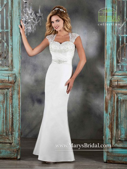Mary's Bridal Ivory 2579 Wedding Dress Size 10 (M)