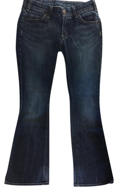 Preload https://item2.tradesy.com/images/citizens-of-humanity-blue-medium-wash-thumbprint-h-075-stretch-pant-boot-cut-jeans-size-27-4-s-22001946-0-1.jpg?width=400&height=650