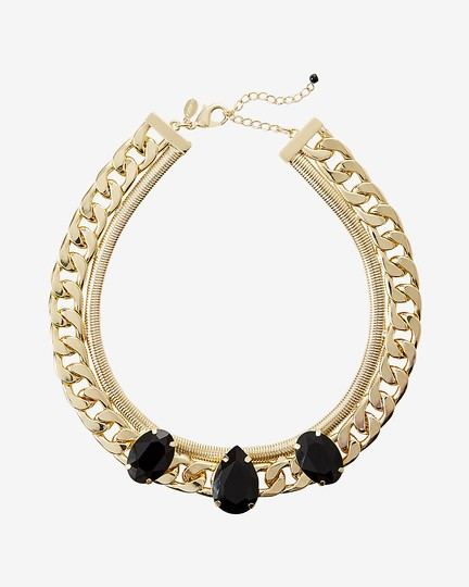 Preload https://img-static.tradesy.com/item/22001947/express-blackgold-faceted-stone-status-link-chain-collar-necklace-0-0-540-540.jpg