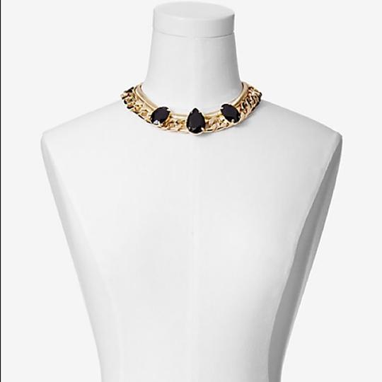Express Faceted Stone Status Link Chain Collar Necklace