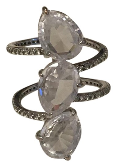 Preload https://item2.tradesy.com/images/henri-bendel-silver-with-swarovski-luxe-crystals-size-7-ring-22001986-0-1.jpg?width=440&height=440