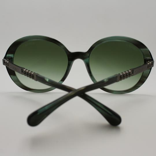 Chanel Round Transparent Green/Brown Sunglasses 5353 c.1562/s3