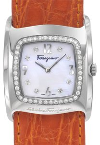 Salvatore Ferragamo Salvatore Ferragamo Vara Watch Diamond Dial #F51K09010636 Retail $4425.00