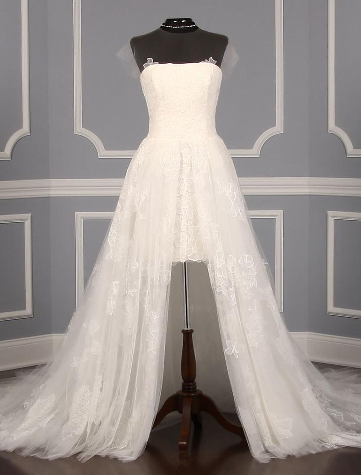 f9032c43f4a4d Vera Wang Diamond White Chantilly Lace and Tulle Lucia Formal Wedding Dress