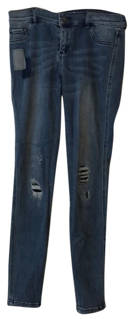 New York & Company Skinny Jeans-Distressed