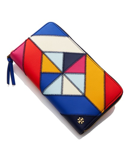 Tory Burch NEW Tory Burch colorful Stitching leather Patchwork long Wallet