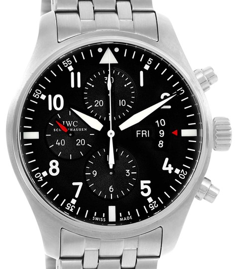 Preload https://item2.tradesy.com/images/iwc-black-pilot-dial-chronograph-mens-iw377704-box-papers-watch-22002076-0-1.jpg?width=440&height=440