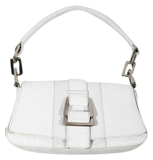 Preload https://item1.tradesy.com/images/escada-small-italy-silver-white-pebble-leather-shoulder-bag-22002100-0-2.jpg?width=440&height=440
