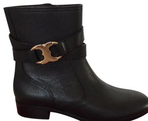 Tory Burch Black pebbled leather Boots