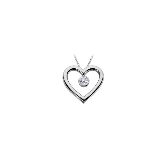 Preload https://img-static.tradesy.com/item/22002234/white-heart-pendant-brilliant-cut-one-carat-cz-with-chain-925-0-0-540-540.jpg