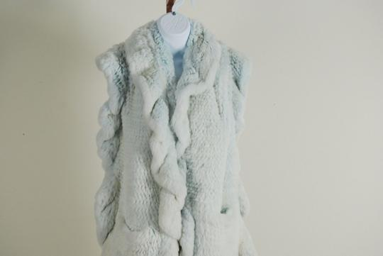 Other Baby Blue Knitted Rex Rabbit Stole