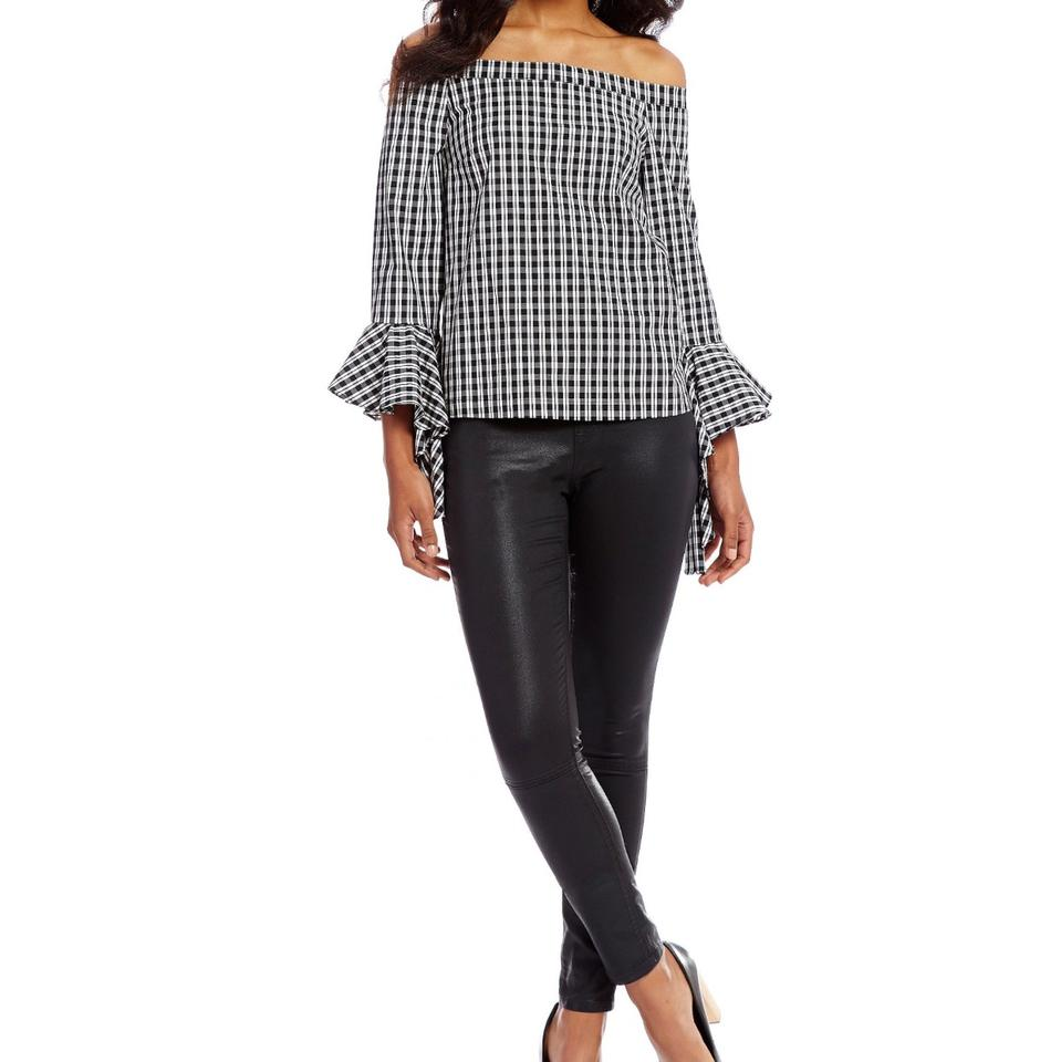 de42b6dd025 1.STATE Off The Shoulder Gingham Tops Blouse Size 4 (S) - Tradesy