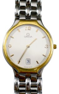 Omega Rare Omega Deville 18k Gold and Stainless Steel Quartz Watch 1980's