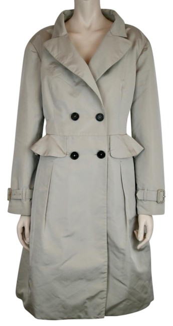 Preload https://item2.tradesy.com/images/prada-khaki-beige-double-glamorous-silk-breasted-evening-trench-size-8-m-22002601-0-1.jpg?width=400&height=650