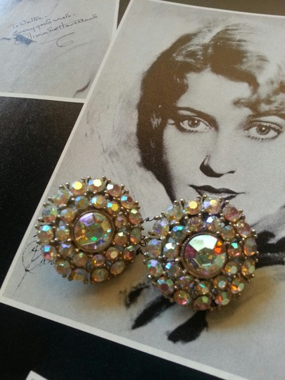 Weiss jewelry Vintage Weiss Rhinestone Clip Earrings