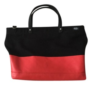 Jack Spade Tote in Black with Red bottom