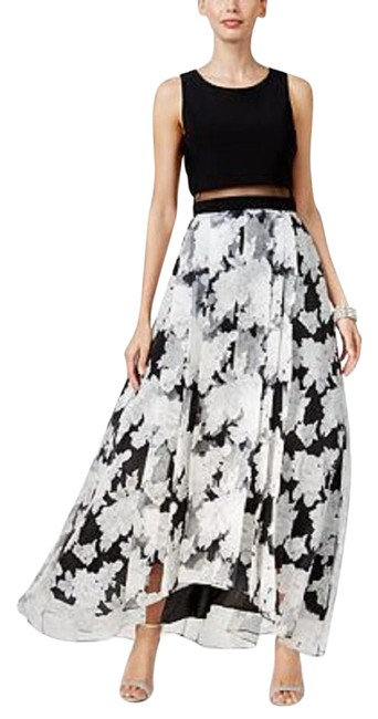 Preload https://item3.tradesy.com/images/betsy-and-adam-black-illusion-popover-floral-print-gown-blackwhite-long-formal-dress-size-4-s-22002672-0-1.jpg?width=400&height=650