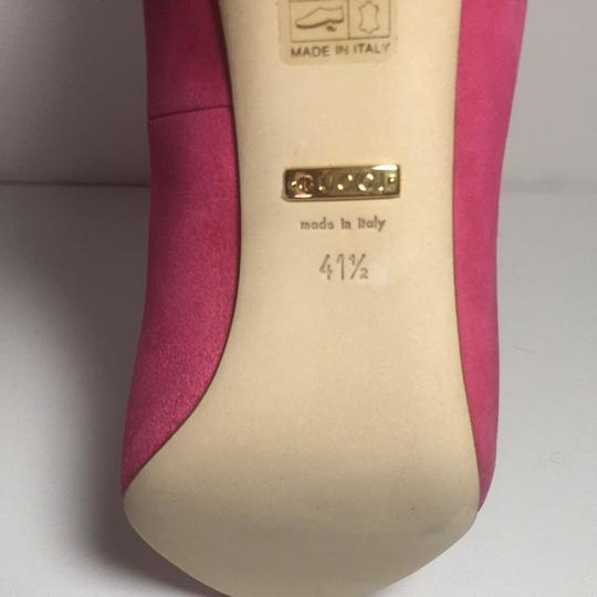 Gucci Classic Heels Size 10.5 Size 40.5 Italy Pink Pumps