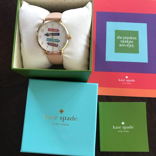 Kate Spade NWT Kate Spade Metro Gold & Beige Leather Watch