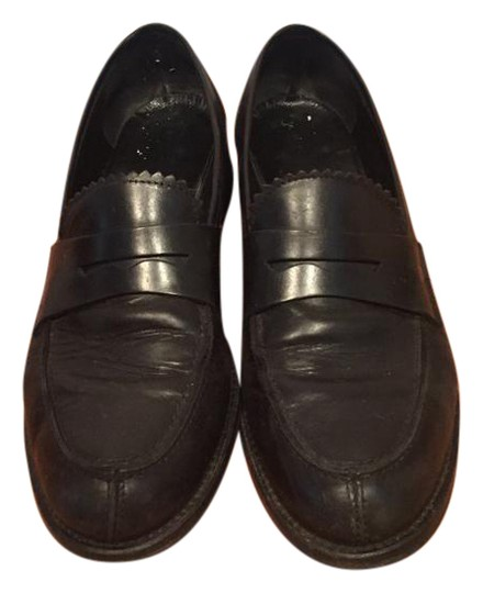 Preload https://item5.tradesy.com/images/black-leather-penny-loafers-with-decorative-detail-flats-size-eu-38-approx-us-8-regular-m-b-22002819-0-1.jpg?width=440&height=440