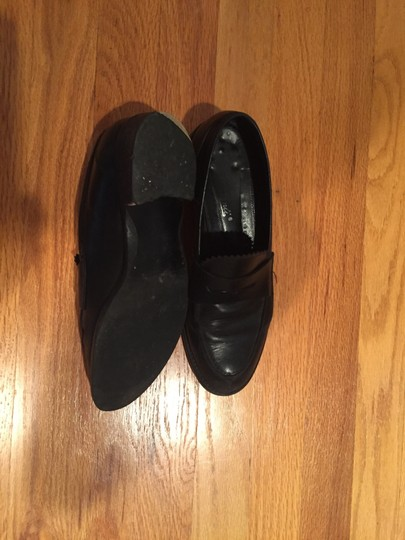 Unknown Heel Leather Penny Loafer Decorative Detail Loafer Black Flats