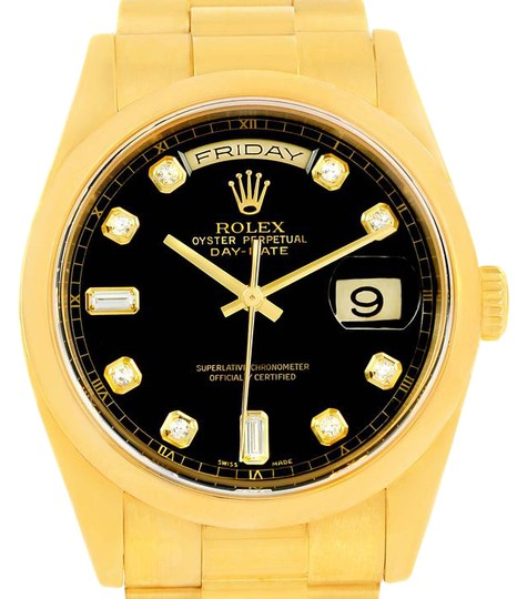 Preload https://img-static.tradesy.com/item/22002821/rolex-black-president-day-date-yellow-diamond-dial-118208-watch-0-1-540-540.jpg