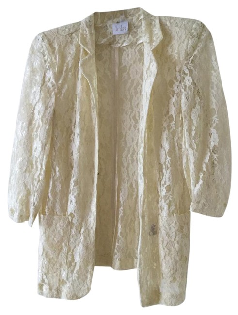 Preload https://item2.tradesy.com/images/white-lace-blazer-size-4-s-22002846-0-1.jpg?width=400&height=650