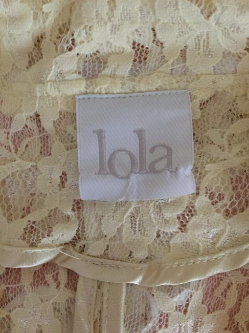 Lola by BCBG Cream Lace Fitted White Blazer