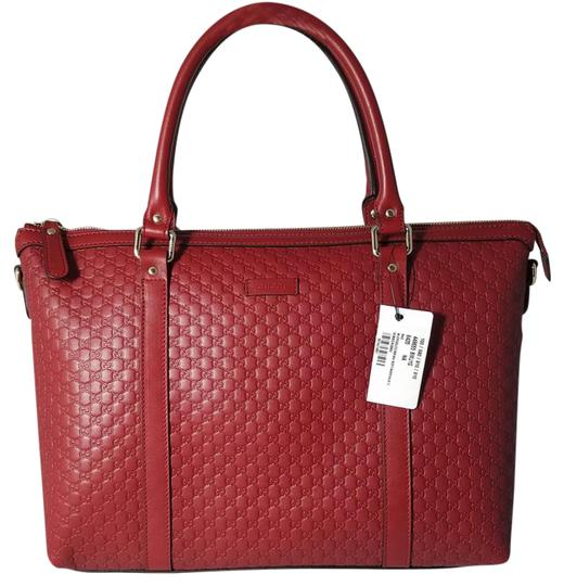 Preload https://img-static.tradesy.com/item/22002857/gucci-nwts-449655-lrg-top-zip-microguccissima-tote-wstrap-red-leather-satchel-0-4-540-540.jpg