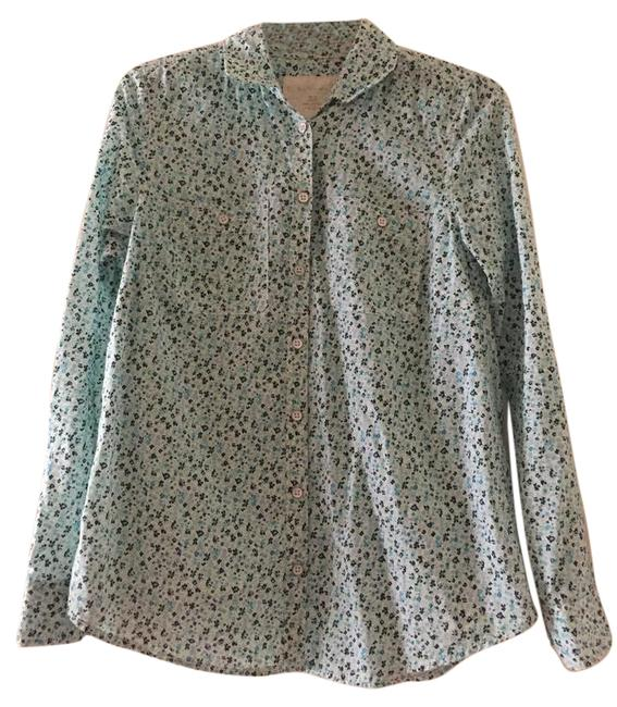 Preload https://item1.tradesy.com/images/sonoma-blue-floral-shirt-button-down-top-size-2-xs-22002875-0-1.jpg?width=400&height=650
