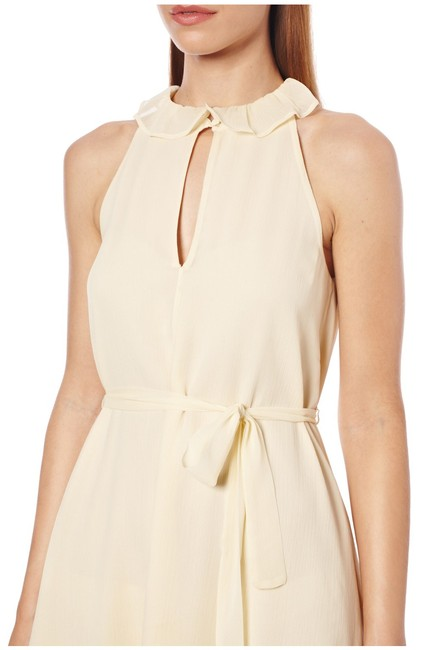 French Connection Waist Tie Ruffles Chiffon Halter Dress