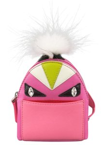 Fendi Pink Monster Micro Backpack Keychain Charm