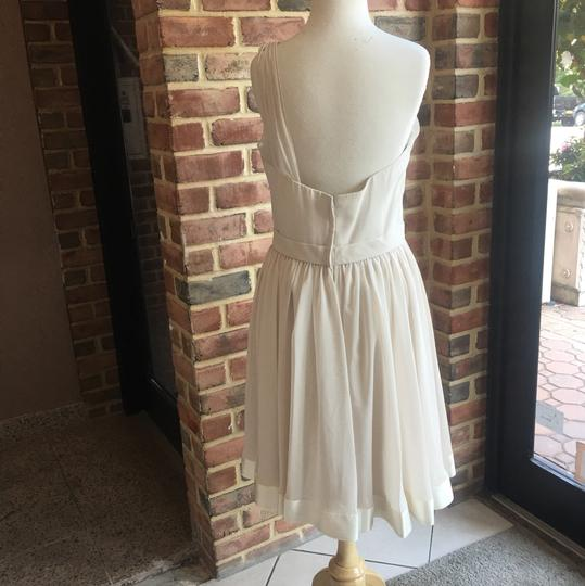 Wtoo Pearl (Ivory) Chiffon 707 Pearl/ Antique Casual Bridesmaid/Mob Dress Size 10 (M)