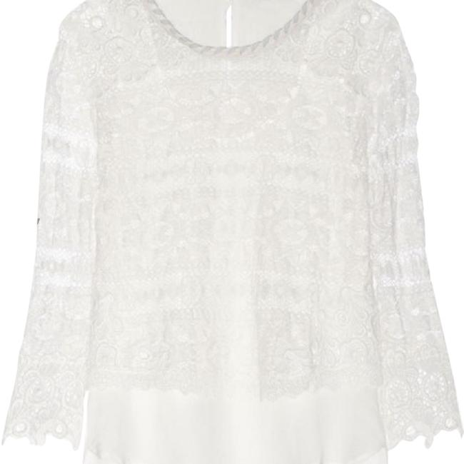 Preload https://item2.tradesy.com/images/maje-ecru-lace-superposition-t-blouse-size-12-l-22002956-0-2.jpg?width=400&height=650