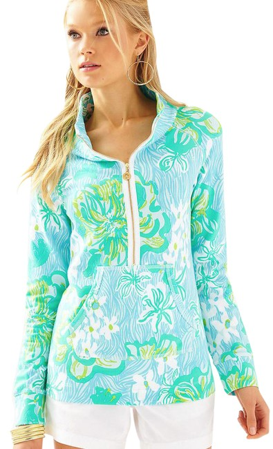 Preload https://item4.tradesy.com/images/lilly-pulitzer-lagoon-green-wave-rider-skipper-popover-sweaterpullover-size-4-s-22002973-0-1.jpg?width=400&height=650