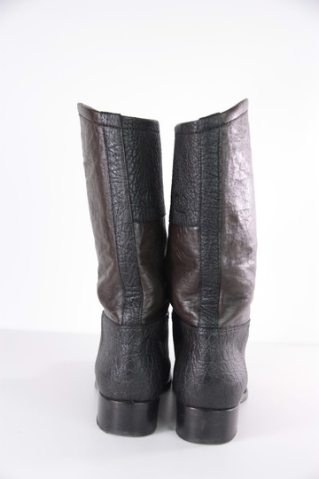 Chanel Color-blocking Leather Black/Brown Boots