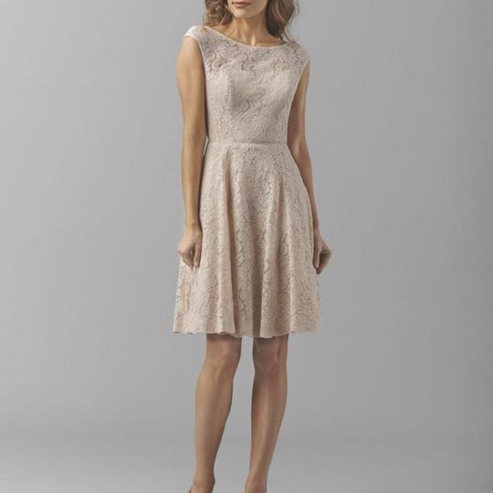 Watters Apricot Lace/ Bronze Lining 8251 Apricot/ Casual Bridesmaid/Mob Dress Size 14 (L)