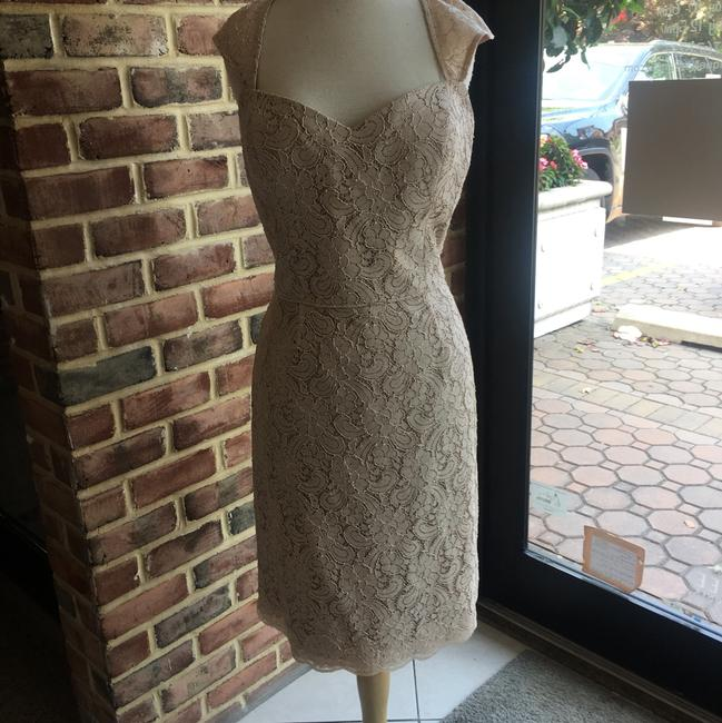 Item - Apricot Lace/ Bronze Lining 8252 Apricot/ 15 Casual Bridesmaid/Mob Dress Size 14 (L)