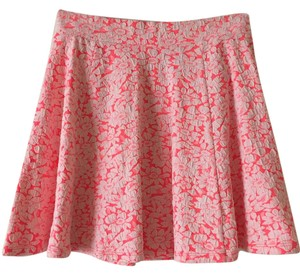 Divided by H&M Floral Flowy Lace Stretchy Mini Skirt Pink
