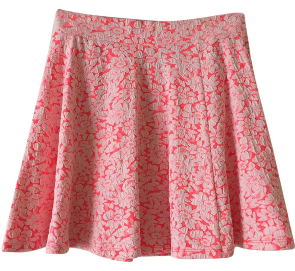 Divided by H M Floral Flowy Lace Stretchy Mini Skirt Pink ... c095fa005
