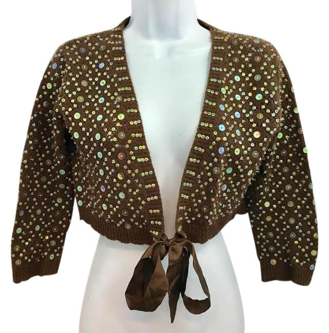 Preload https://img-static.tradesy.com/item/22003057/necessary-objects-dark-brown-embellished-knit-m-blouse-size-6-s-0-1-650-650.jpg