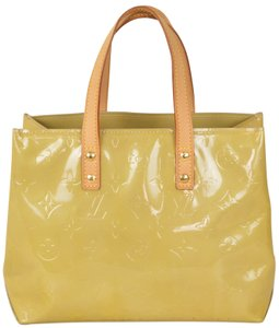 Louis Vuitton Monogram Vernis Patent Leather Reade Tote in Yellow